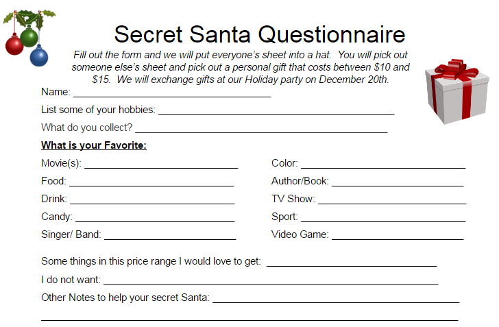 secret santa email template - troop 8 sawkill ny